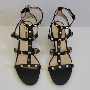 Karl Lagerfeld Honore Caged Studded Sandals